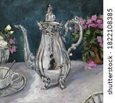 Silver Teapot And An Antique...