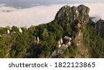 Aerial View Of Wat Phra Bat Phu ...