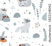 Seamless Pattern With Cute Baby ...