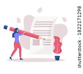 concept illustration of article ... | Shutterstock .eps vector #1822171298