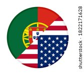 round icon with portugal and... | Shutterstock .eps vector #1822171628