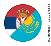 round icon with serbia and ... | Shutterstock .eps vector #1822176665