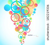 abstract bubbles  colorful... | Shutterstock .eps vector #182219336
