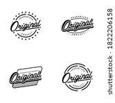 vintage guaranteed   original... | Shutterstock .eps vector #1822206158