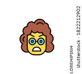 girl  woman angry icon vector | Shutterstock .eps vector #1822212902