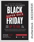 black friday business flyer... | Shutterstock .eps vector #1822240535