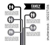 family design over white... | Shutterstock .eps vector #182227106
