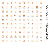 abstract icons set   isolated... | Shutterstock .eps vector #182228222