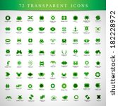 unusual icons set   isolated on ... | Shutterstock .eps vector #182228972