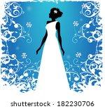 bride silhouette   Shutterstock .eps vector #182230706