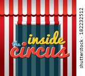 inside the circus vector... | Shutterstock .eps vector #182232512
