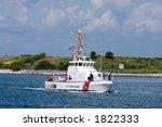 Us Coast Guard Boat On Security ...