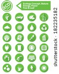 ecology nature energy icons...