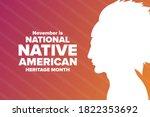 november is national native...   Shutterstock .eps vector #1822353692