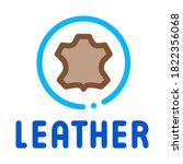 genuine leather label icon... | Shutterstock .eps vector #1822356068