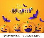 happy halloween greeting banner ... | Shutterstock .eps vector #1822365398