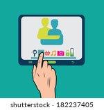 technology design over green... | Shutterstock .eps vector #182237405