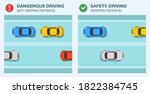 modern sedan cars on a city... | Shutterstock .eps vector #1822384745