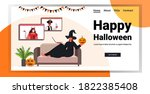 happy halloween holiday... | Shutterstock .eps vector #1822385408
