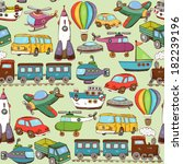 illustration cartoon transport... | Shutterstock . vector #182239196