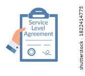 service level agreement .... | Shutterstock .eps vector #1822414775
