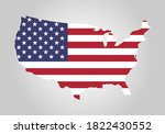 usa map with united states flag ... | Shutterstock .eps vector #1822430552
