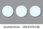 mirrors set realistic circle... | Shutterstock .eps vector #1822435148