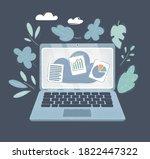 cartoon vector illustration of...   Shutterstock .eps vector #1822447322