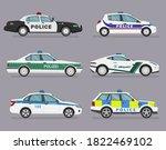 translation  police. set of... | Shutterstock .eps vector #1822469102