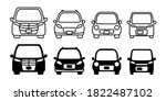 front automobile vehicle... | Shutterstock .eps vector #1822487102