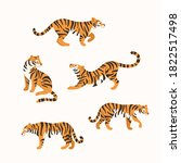 cartoon tiger. cute animal... | Shutterstock .eps vector #1822517498