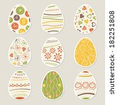 easter eggs set | Shutterstock .eps vector #182251808