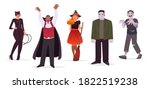 set of characters men and women ... | Shutterstock .eps vector #1822519238