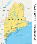 maine  me  political map with... | Shutterstock .eps vector #1822545992