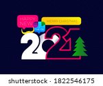 chinese new year 2021 year of... | Shutterstock .eps vector #1822546175