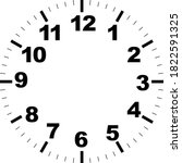 clock face with hour dial. dots ...   Shutterstock .eps vector #1822591325