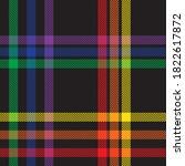 rainbow glen plaid textured...   Shutterstock .eps vector #1822617872