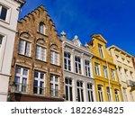 medieval town bruges in belgium ... | Shutterstock . vector #1822634825