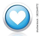 heart  button | Shutterstock .eps vector #182264972