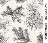 winter seamless pattern with... | Shutterstock .eps vector #1822665698