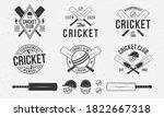 cricket emblems  logos  badges... | Shutterstock .eps vector #1822667318