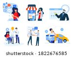 set of business people concepts.... | Shutterstock .eps vector #1822676585