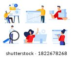 set of business people concepts....   Shutterstock .eps vector #1822678268