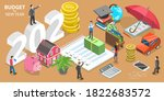 budget for new 2021 year ... | Shutterstock . vector #1822683572