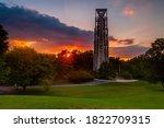 Sunburst At Sunset At The...