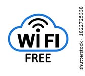 wifi internet icon sign  free... | Shutterstock .eps vector #1822725338