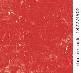red distressed paint texture... | Shutterstock . vector #182274902