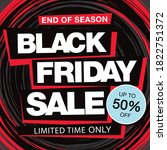 black friday sale banner layout ... | Shutterstock .eps vector #1822751372