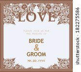 wedding invitation cards with... | Shutterstock .eps vector #182275586