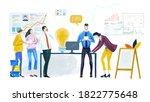 digital illustration big group... | Shutterstock . vector #1822775648